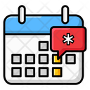 Event Calendar Medical Appointment Medical Event Icon