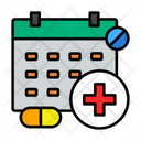 Schedule Calendar Drug Icon