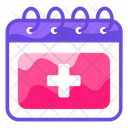 Medical Date Appoitment Calendar Icon