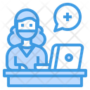 Medical Assistance Computer Advise Icon
