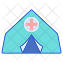 Emergency Shelter Tent Camp Icon
