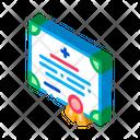 Medical Certificate Nurse Icon