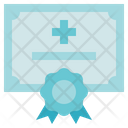 Medical Service Medical Certificate License Icon