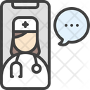 Medical Chat Talk Doctor Icon