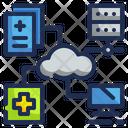Medical Cloud Server Medical Server Data Icon