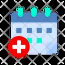 Medical Date Date Calendar Icon