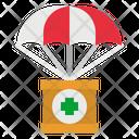 Parachute Donation Help Icon