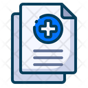 Medical Healthy Document Icon