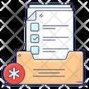 Health Report Medical Folder Prescription Icon
