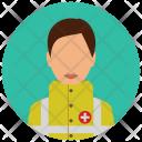 Emergency Medical Woman Icon