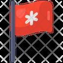 Medical Flag Flagpole Streamer Icon