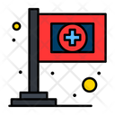 Medical Flag Hospital Flag Clinic Flag Icon