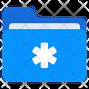 Medial Folder Medical File Medical Document Icon