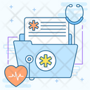 Medical Folder Anamnesis Healthcare Document Icon