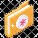 Medical Folder Medical Binder Healthcare Folder Icon