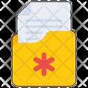 Medical Folder Medical Document Medical Archive Icon
