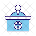 Medical Front Office Medical Desk Phamacist Desk Icon