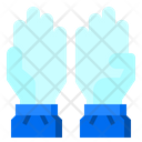 Hand Medical Gloves Protection Icon