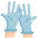 Rubber Gloves Medical Icon