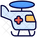 Helicopter Medical Transport Icon