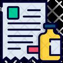 Medical Invoice Medical Receipt Bill Icon