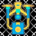 Drone Transportation Transport Medical Kit Icon