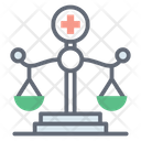 Medical Law Healthcare Law Justice Scale Icon