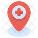 Location Medical Pin Icon