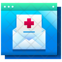 Medical Mail Email Healthcare Icon