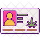 Medical Marijuana Card Cannabis Legal Icon