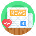 Newspaper Medical News Health News Icon