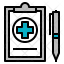 Medical Prescription Report Icon
