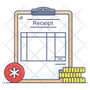 Medical Invoice Medical Receipt Hospital Receipt Icon