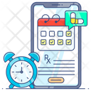Online Appointment Vaccination Date Medical Reminder Icon