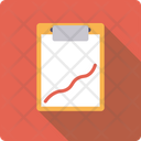 Medical Report Clipboard Recovery Graph Icon