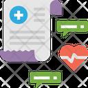 Medical Newsv Medical Report Medical Conversation Icon