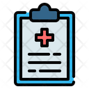 Medical Health Clipboard Icon