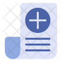 Medical Report Health Document Medical Book Icon