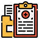 Medical History Data Document Icon
