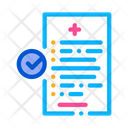 Medical Report Health Icon