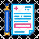 Medical Prescription Pencil Icon