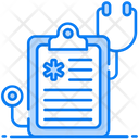 Healthcare Report Prescription Medical Report Icon