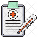 Report Medical Thermometer Icon