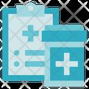 Pharmacy Report Medical Icon