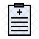 Medical Report Clipboard Icon