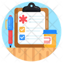 Prescription Medical Prescription Medical Report Icon