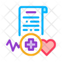 Medical Report Health Report Electronic Icon