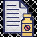 Medical Report Medicine Jar Patient Card Icon