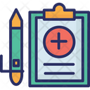 Clipboard Medical Report Patient Card Icon