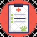 Medical Report Vet Pet Icon